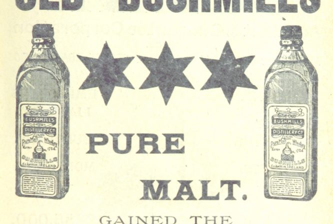 An old Bushmills pure malt whiskey ad